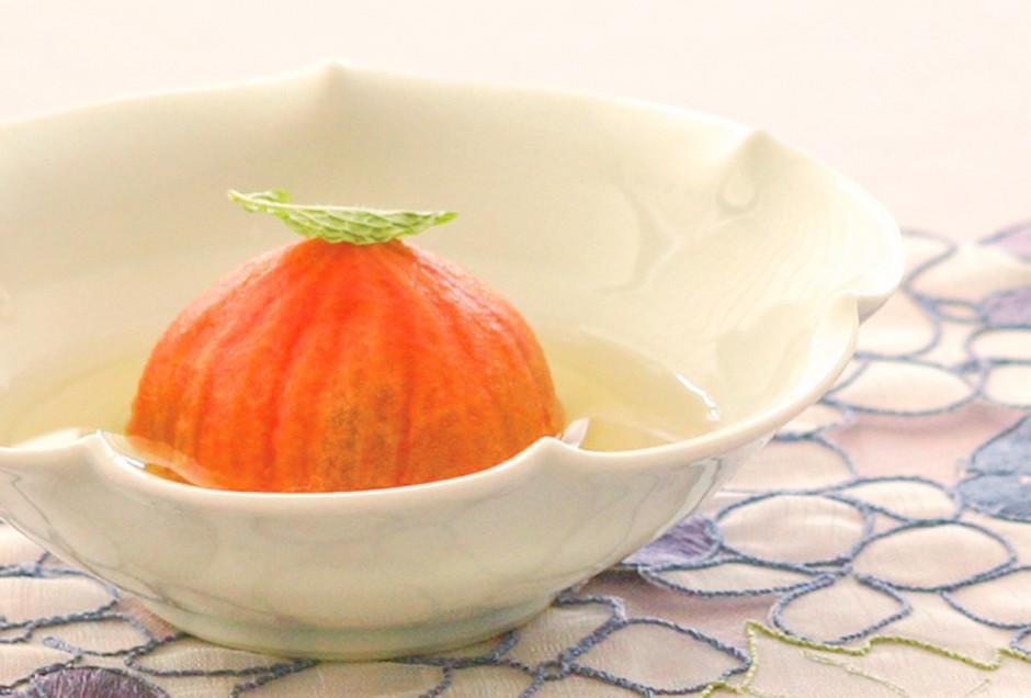 トマトのハーブシロップ漬け