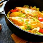 春野菜と鮭のヘルシーちゃんちゃん蒸し
